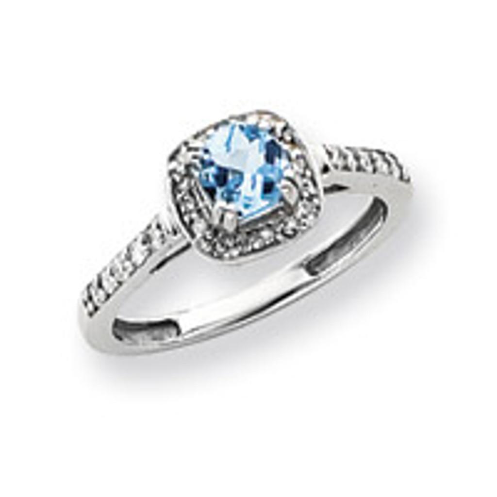 Diamond & Gemstone Ring Mounting 14k White Gold Y4422