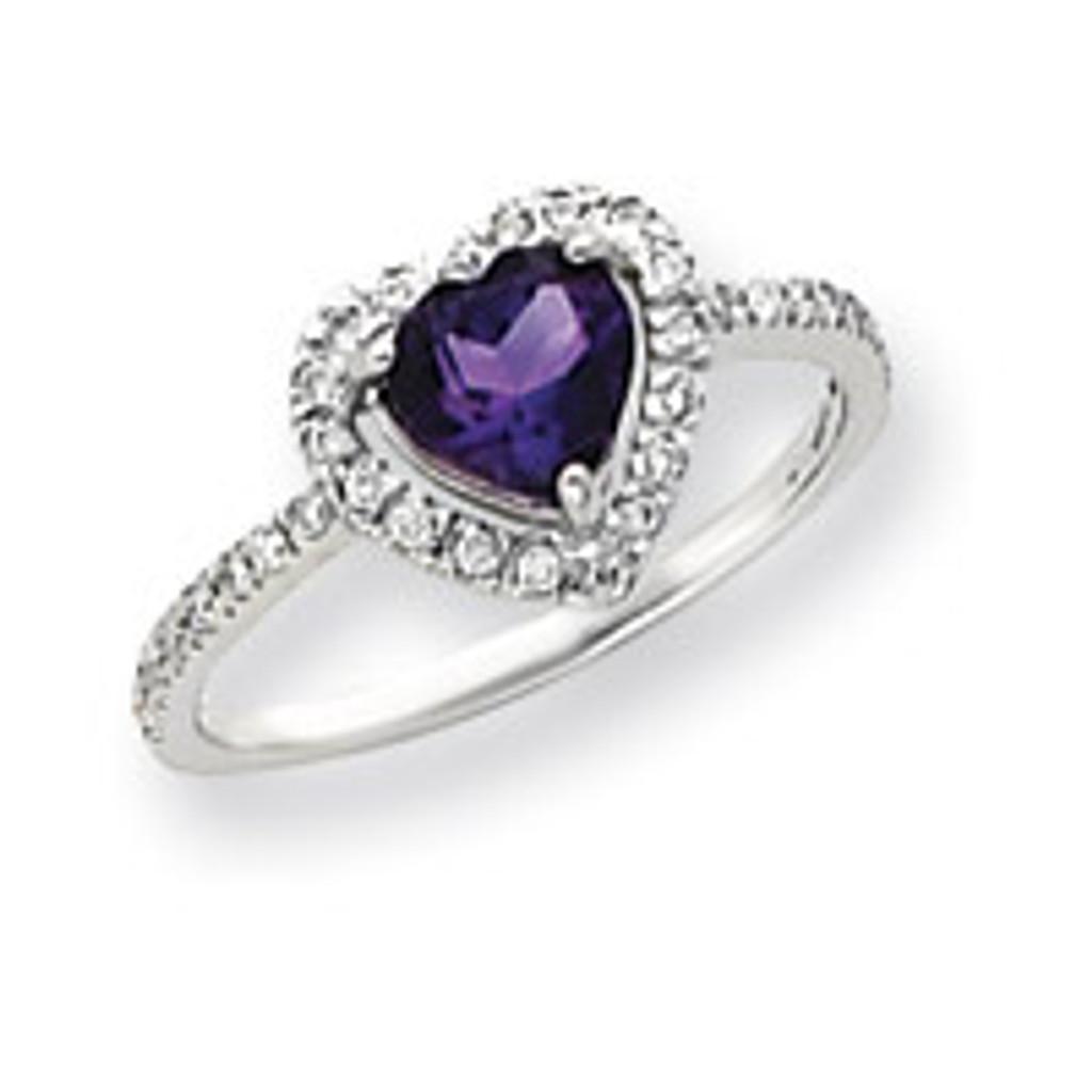 Diamond & Gemstone Ring Mounting 14k White Gold Y4438