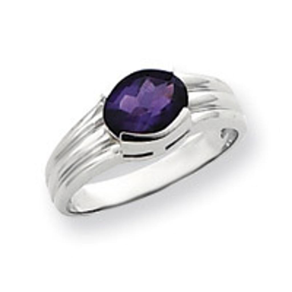 Gemstone Ring Mounting 14k White Gold Y4474