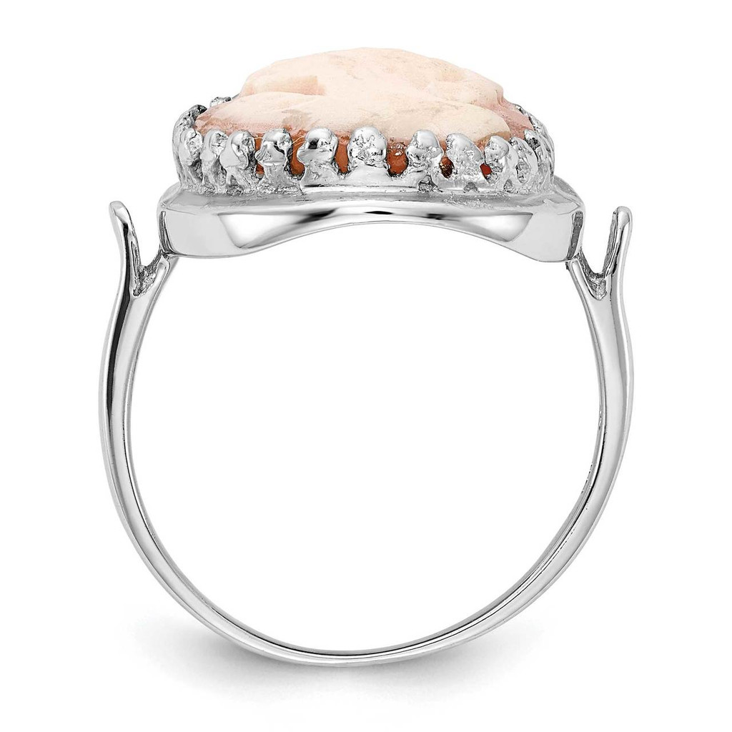 Gemstone Ring Mounting 14k White Gold Y4479