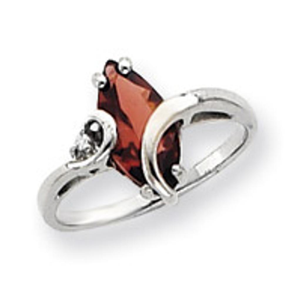Diamond & Gemstone Ring Mounting 14k White Gold Y4530