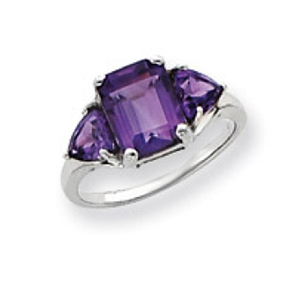Gemstone Ring Mounting 14k White Gold Y4543