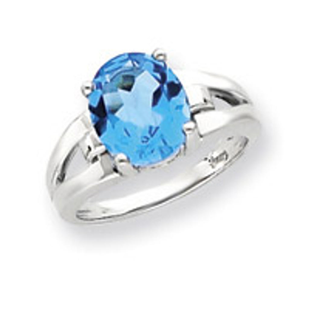 Gemstone Ring Mounting 14k White Gold Y4547