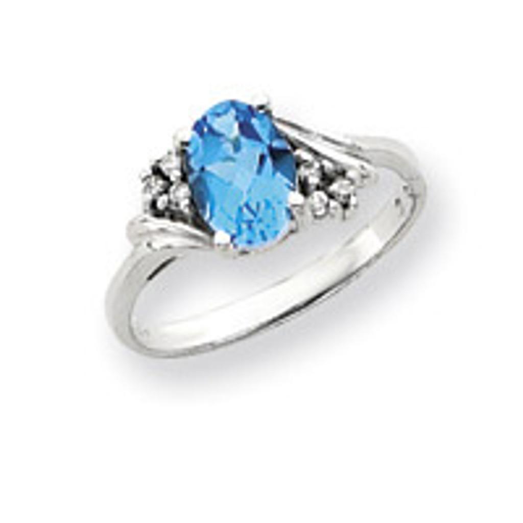 Diamond & Gemstone Ring Mounting 14k White Gold Y4605