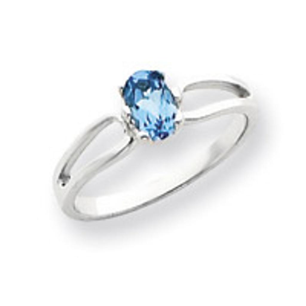 Gemstone Ring Mounting 14k White Gold Y4634