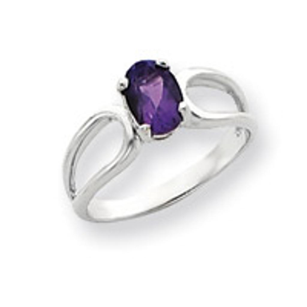 Gemstone Ring Mounting 14k White Gold Y4636