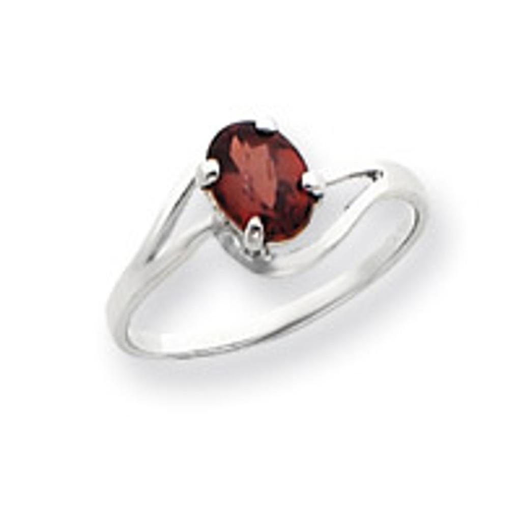 Gemstone Ring Mounting 14k White Gold Y4643