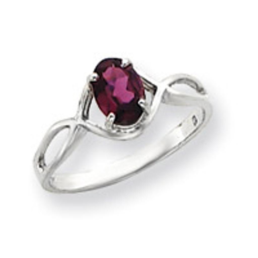 Gemstone Ring Mounting 14k White Gold Y4645
