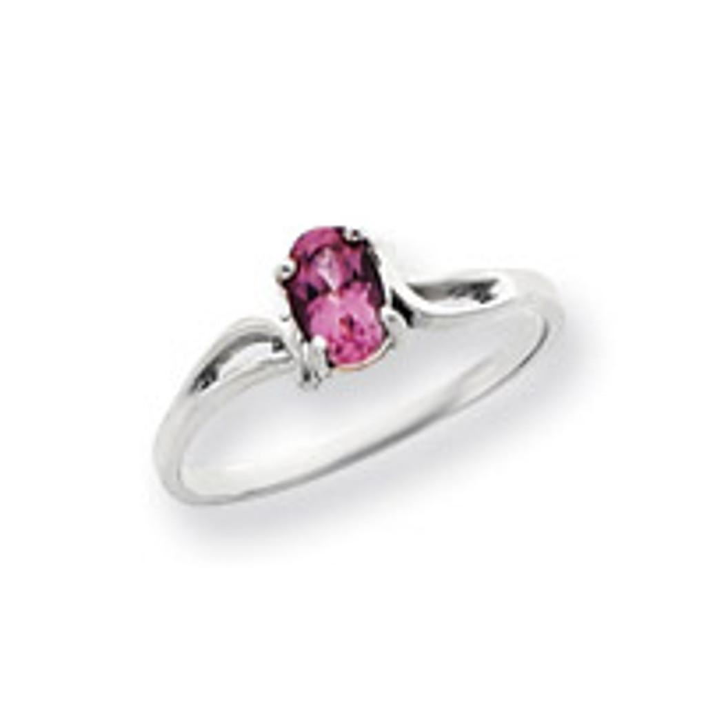 Gemstone Ring Mounting 14k White Gold Y4649