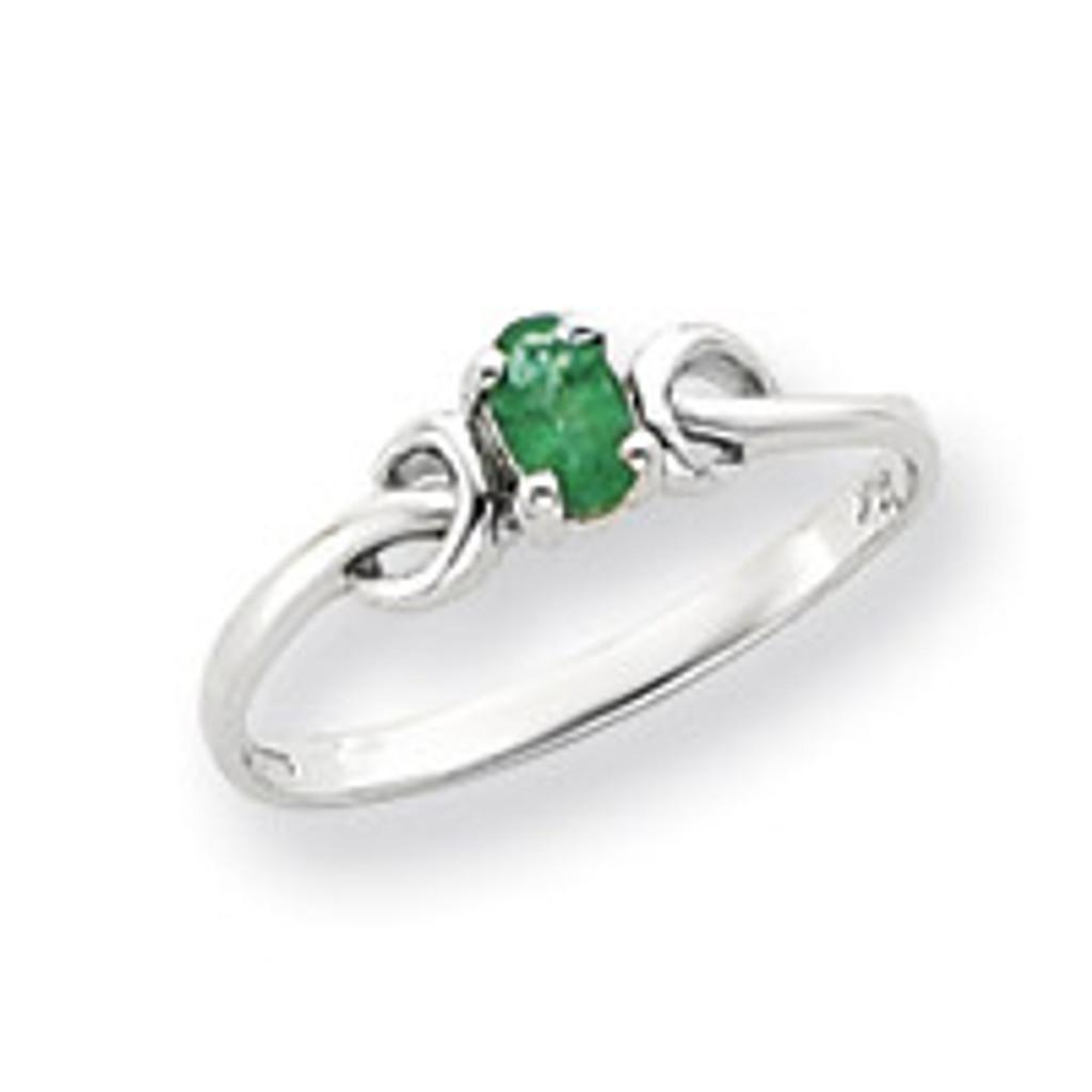 Gemstone Ring Mounting 14k White Gold Y4651