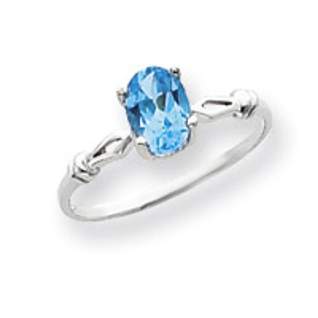 Gemstone Ring Mounting 14k White Gold Y4655