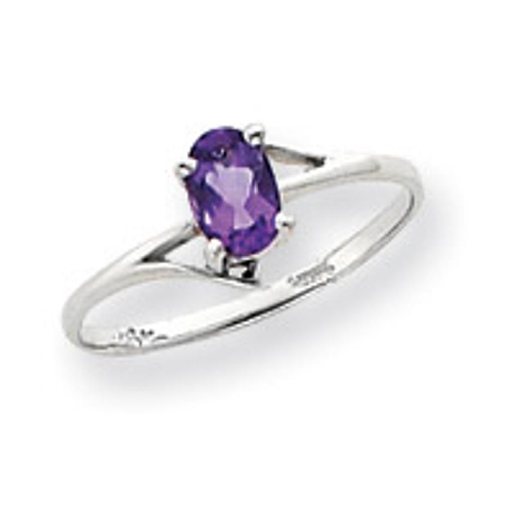 Gemstone Ring Mounting 14k White Gold Y4660