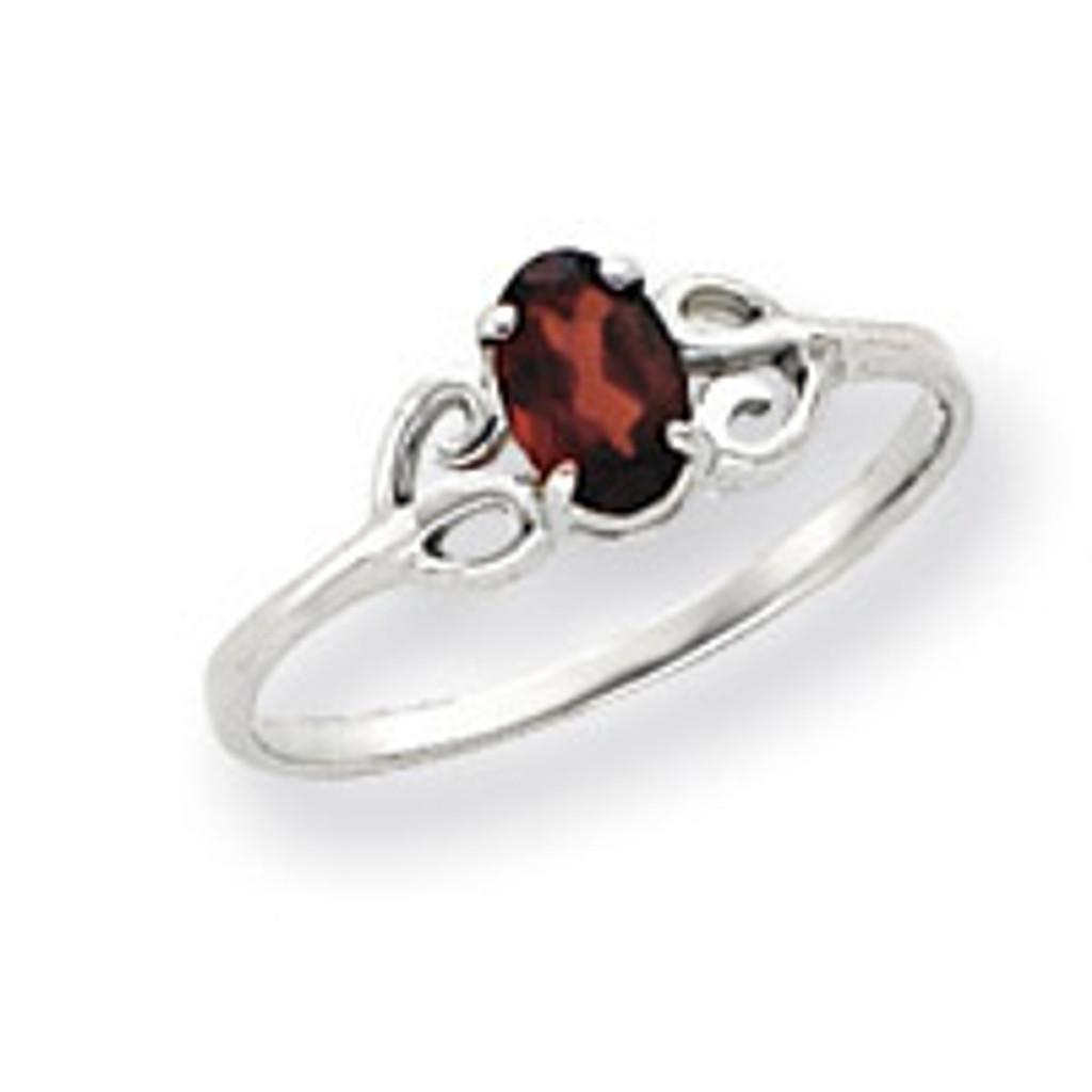Gemstone Ring Mounting 14k White Gold Y4662