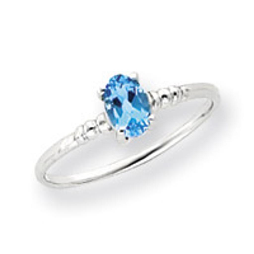 Gemstone Ring Mounting 14k White Gold Y4667