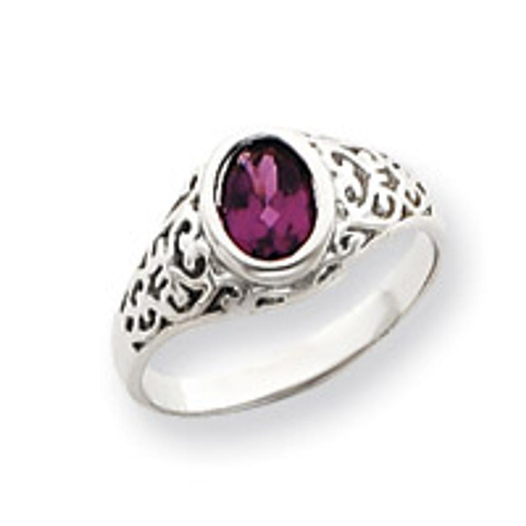 Gemstone Ring Mounting 14k White Gold Y4674
