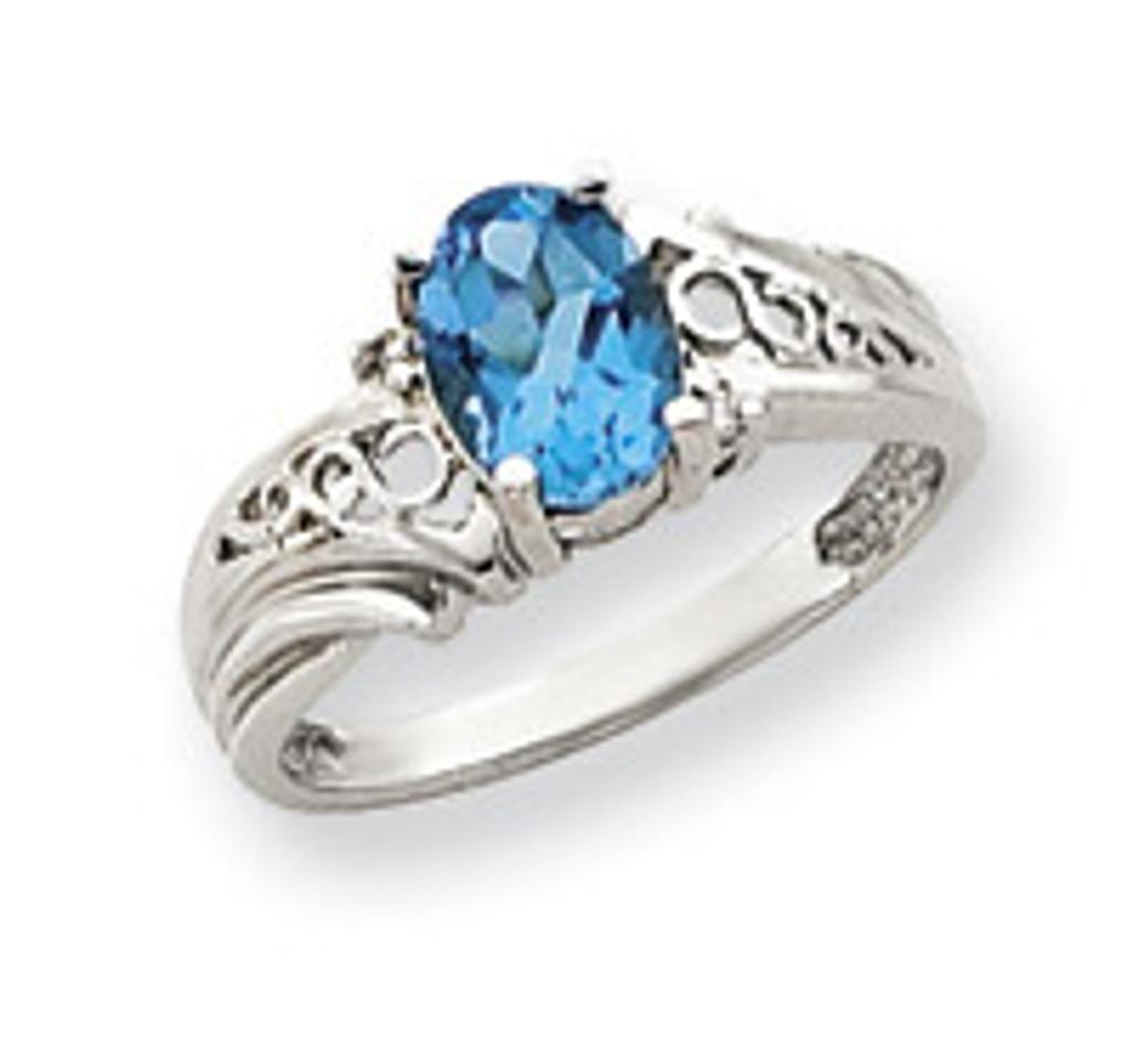 Diamond & Gemstone Ring Mounting 14k White Gold Y4684
