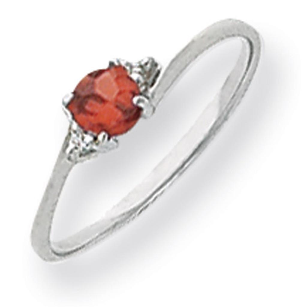 Diamond & Gemstone Ring Mounting 14k White Gold Y4713