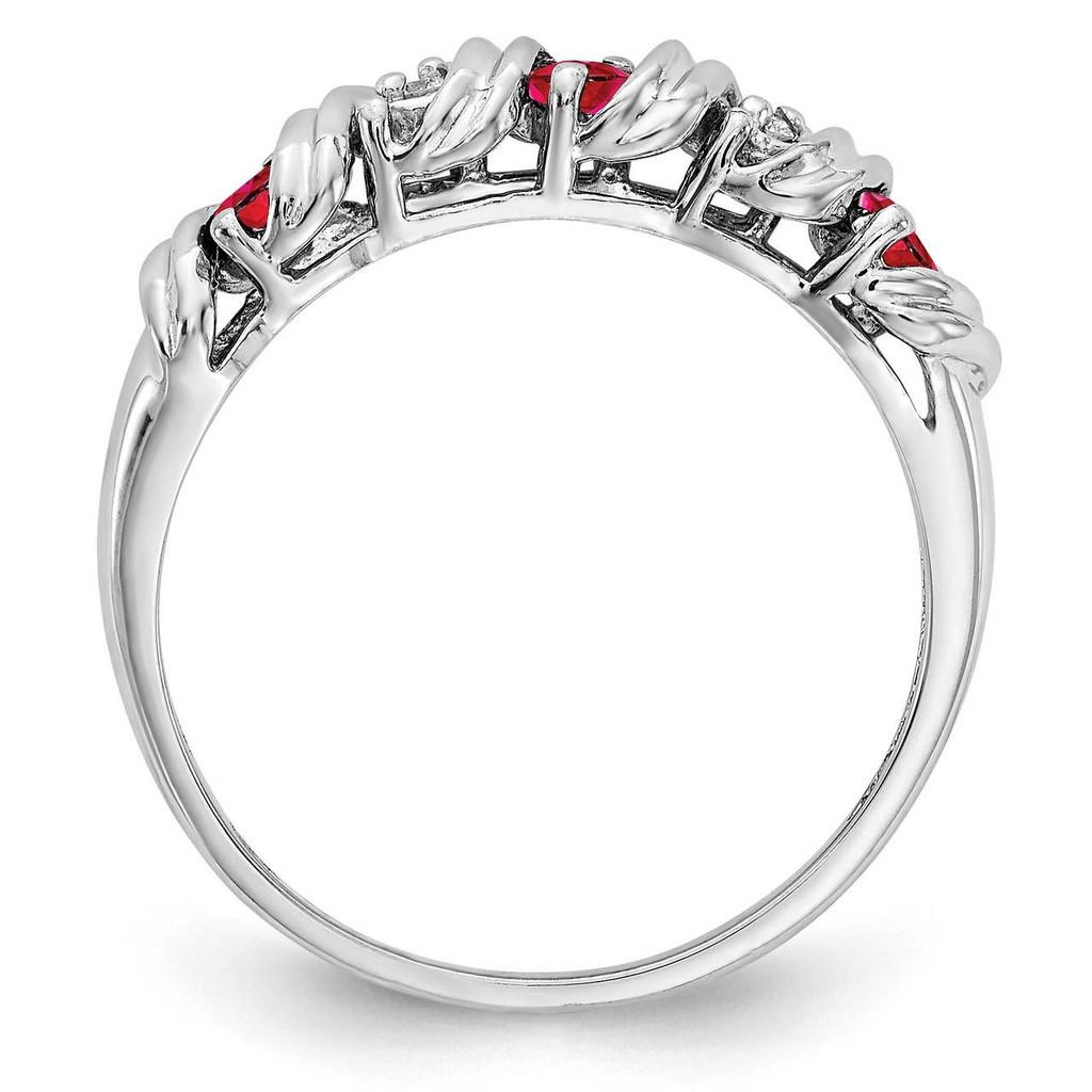 Diamond & Gemstone Ring Mounting 14k White Gold Y4719