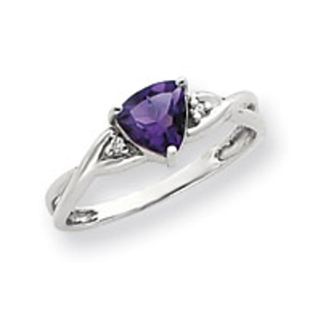 Diamond & Gemstone Ring Mounting 14k White Gold Y4733
