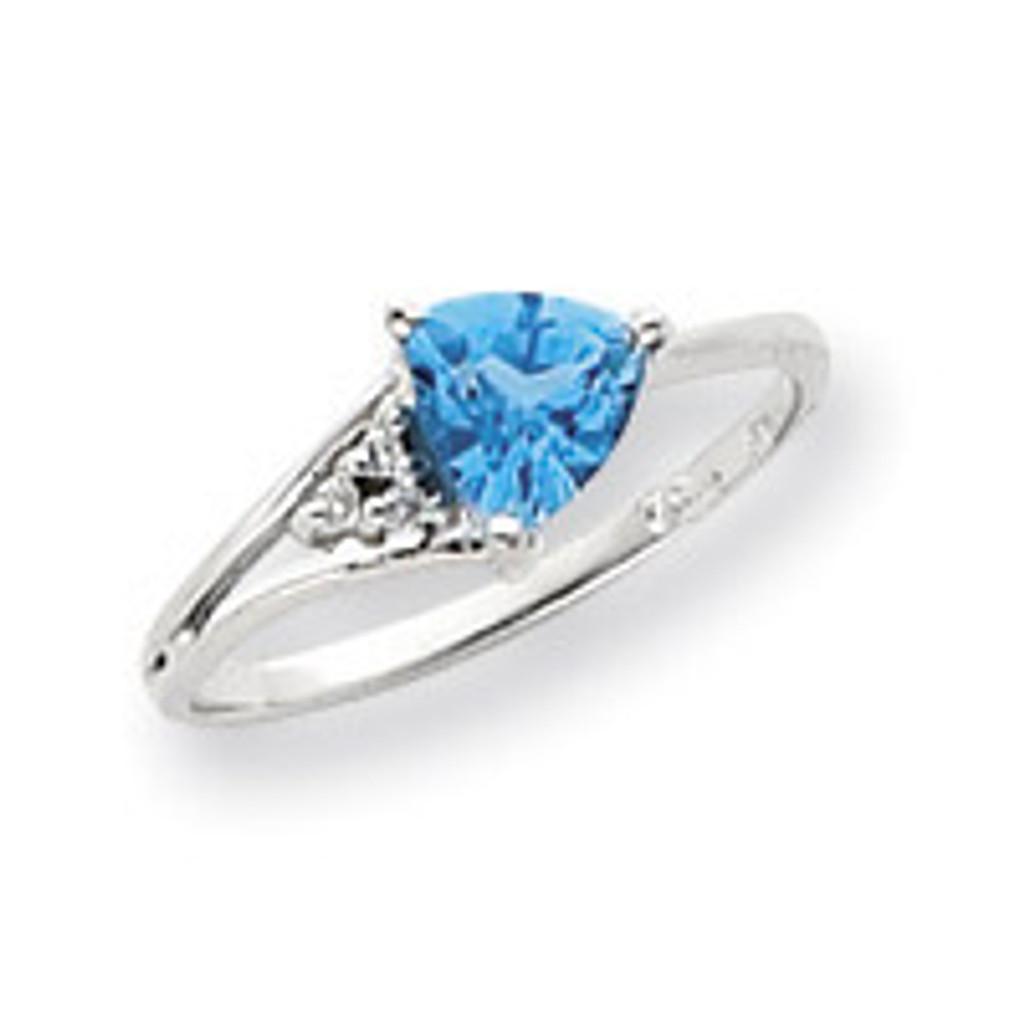 Diamond & Gemstone Ring Mounting 14k White Gold Y4745