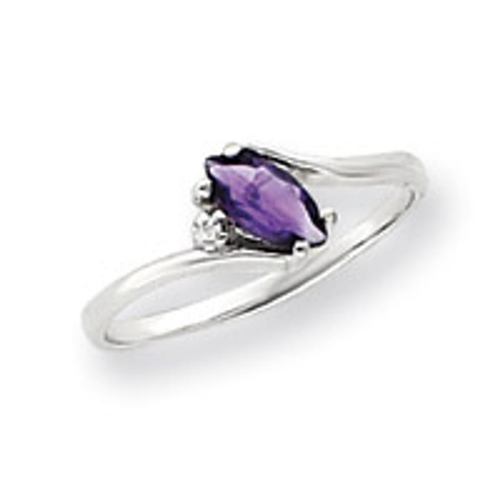 Diamond & Gemstone Ring Mounting 14k White Gold Y4746