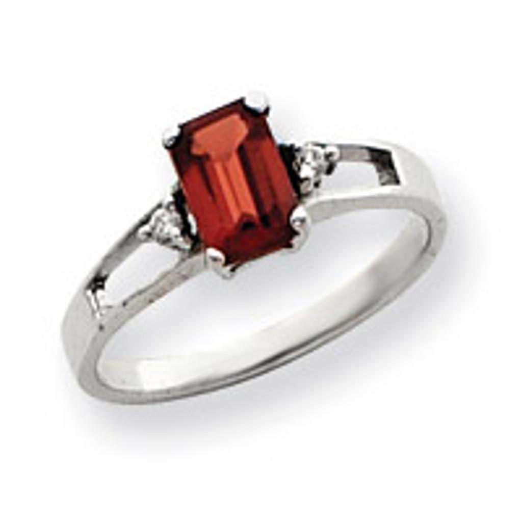 Diamond & Gemstone Ring Mounting 14k White Gold Y4758