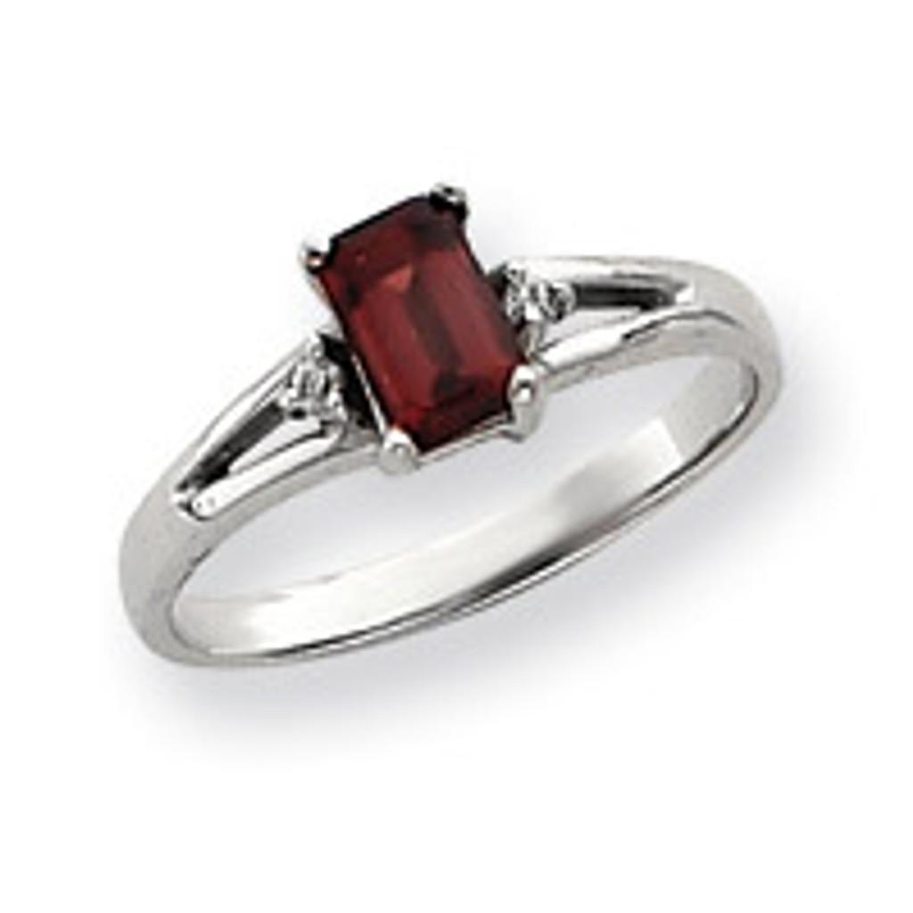 Diamond & Gemstone Ring Mounting 14k White Gold Y4762