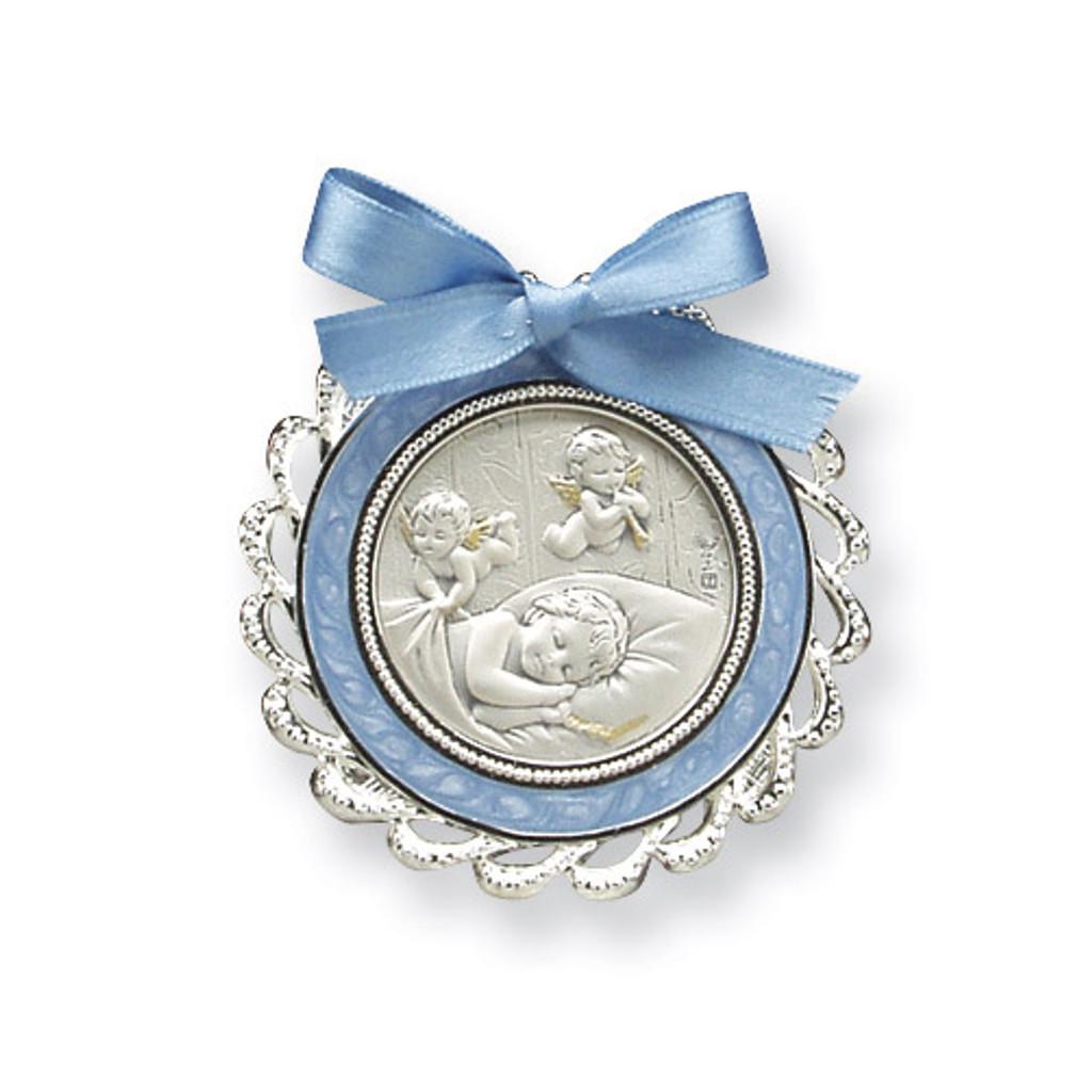 Blue Crib Medal Sterling Silver MPN: GP5484