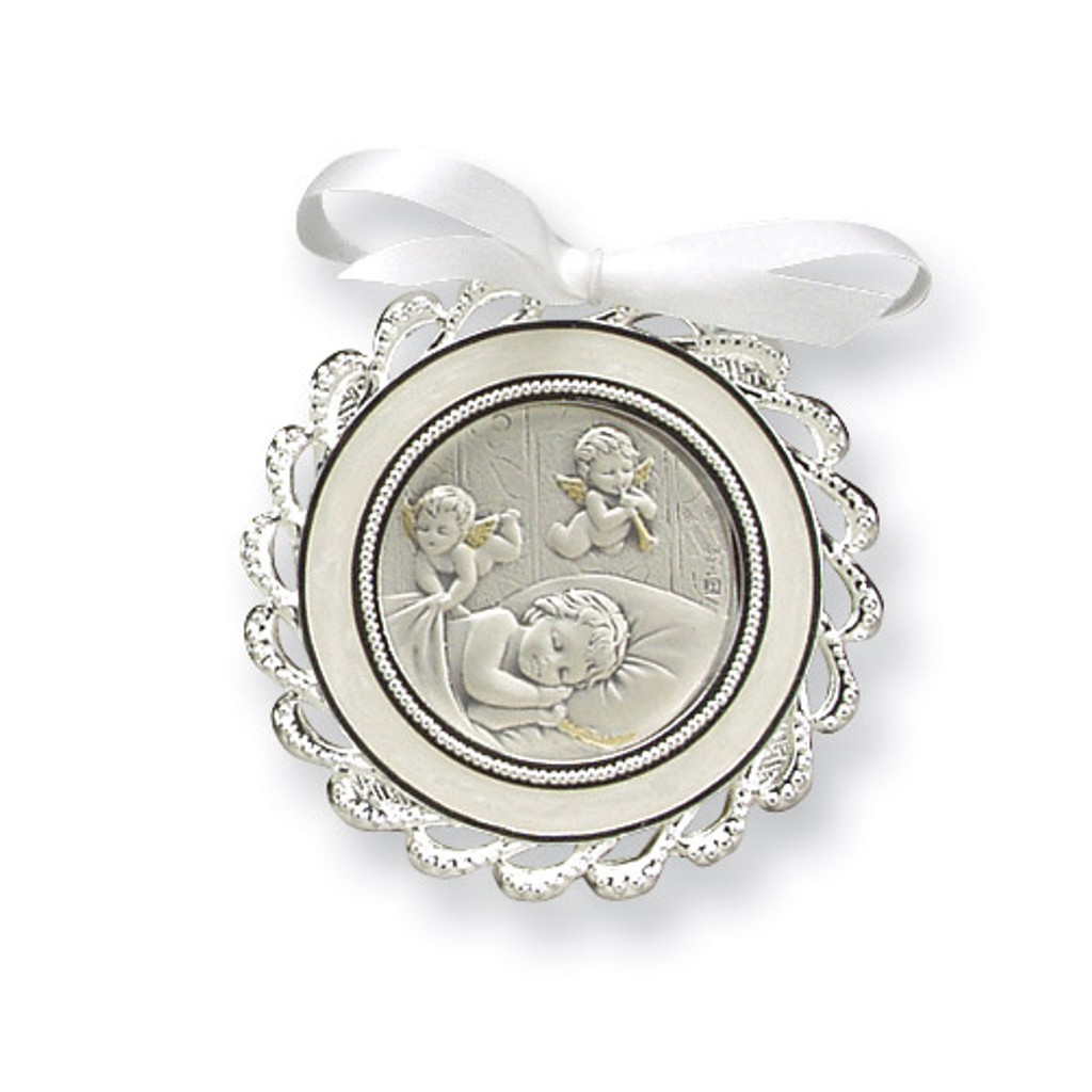 Ivory Crib Medal Sterling Silver MPN: GP5486