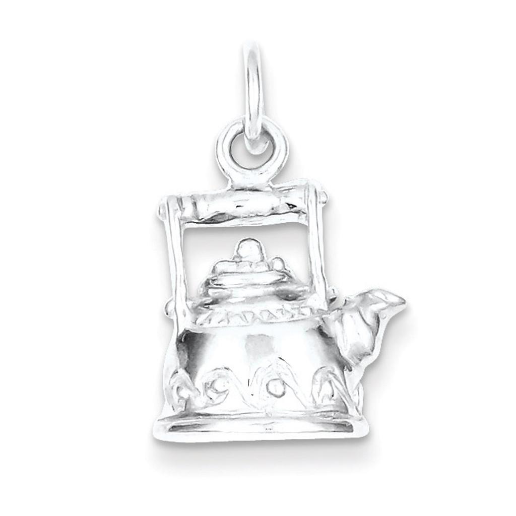 Tea Kettle Charm Sterling Silver MPN: QC1019