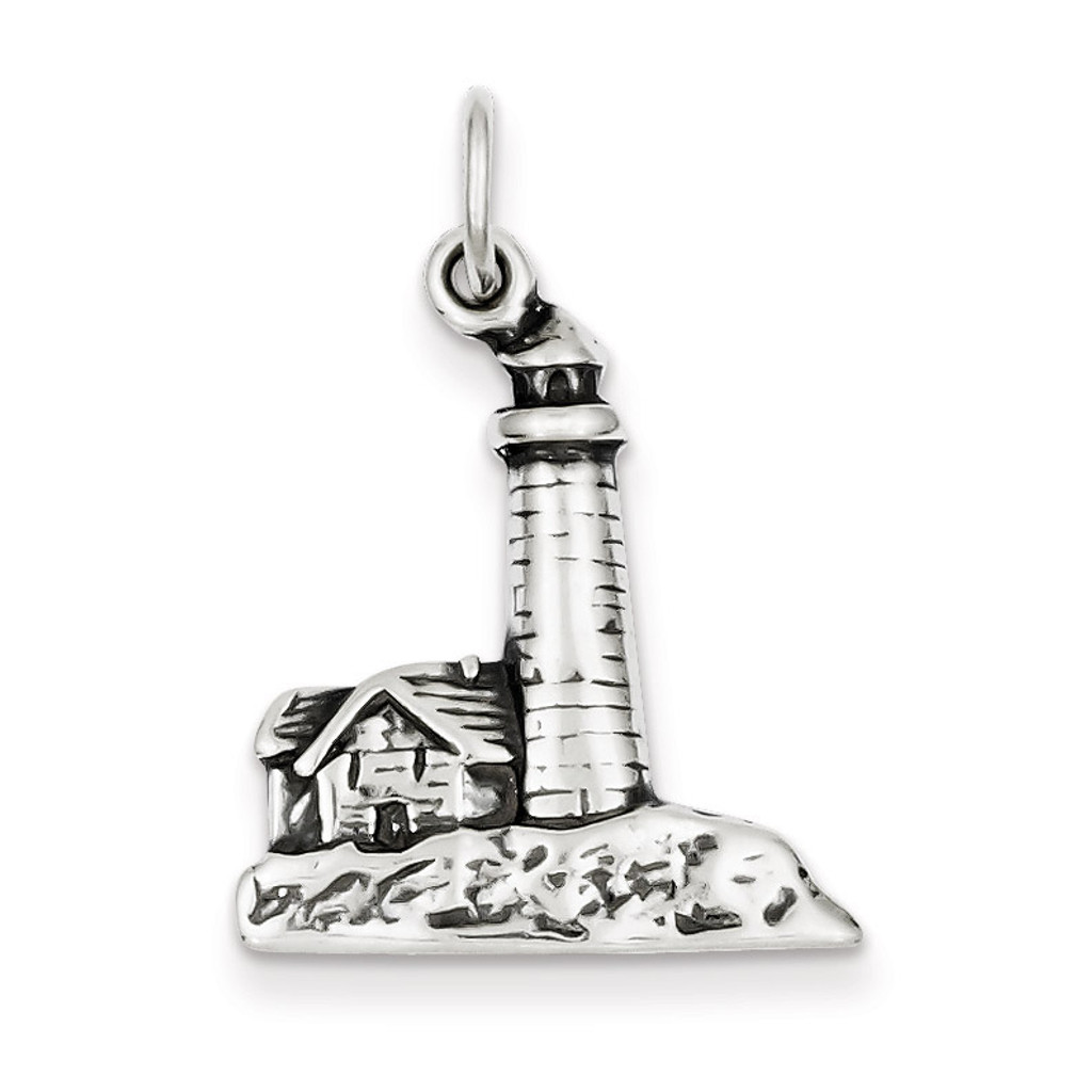 Lighthouse Charm Antiqued Sterling Silver MPN: QC1442