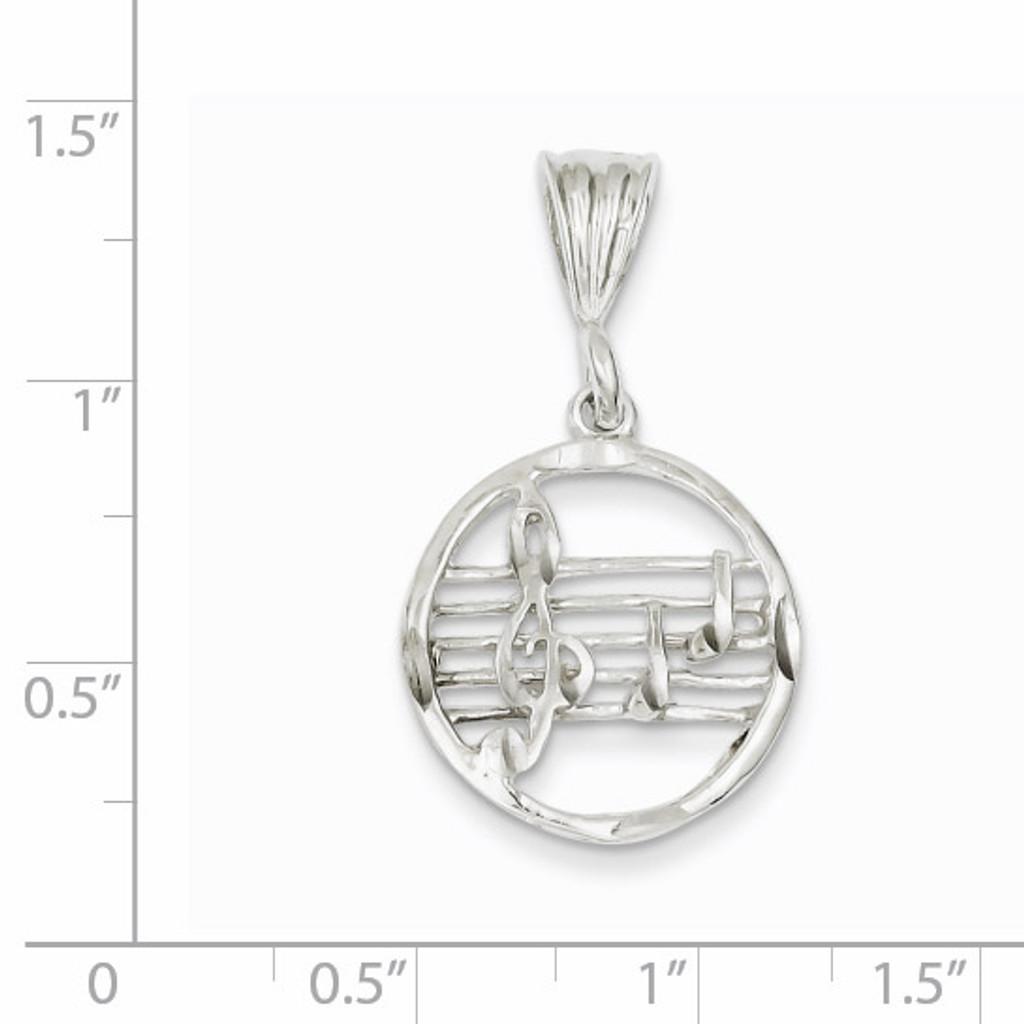 Music Staff Charm Sterling Silver QC1619