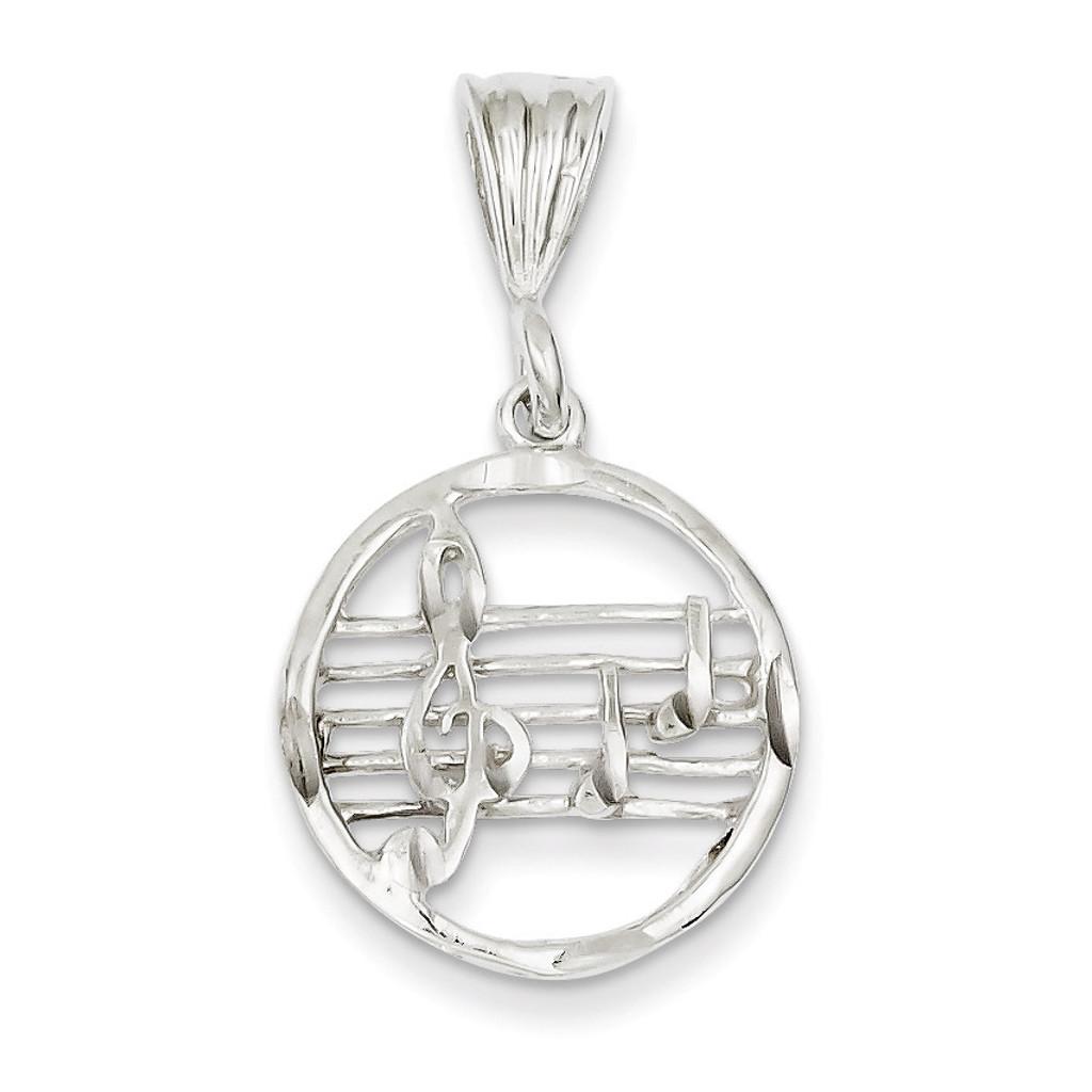 Music Staff Charm Sterling Silver MPN: QC1619