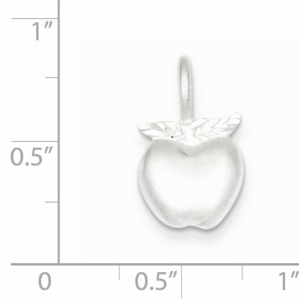 Apple Charm Sterling Silver QC3114