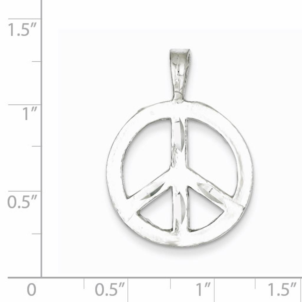Peace Symbol Charm Sterling Silver QC3139