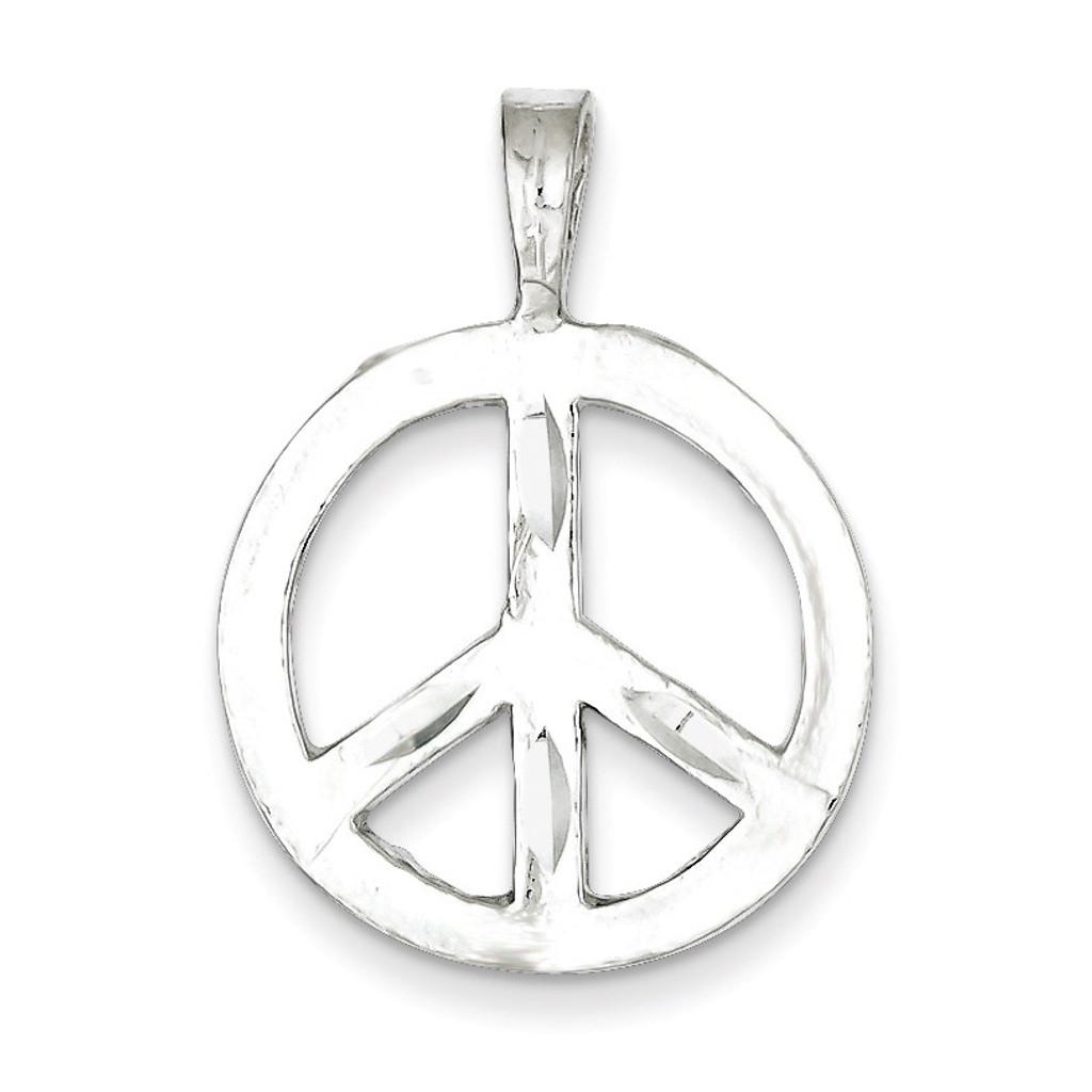 Peace Symbol Charm Sterling Silver MPN: QC3139