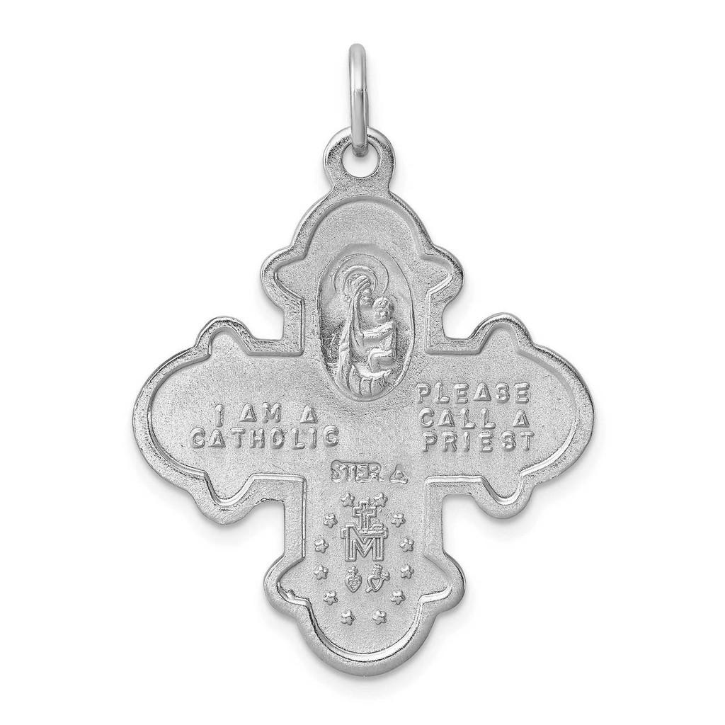 4-way Medal Sterling Silver Satin QC3470