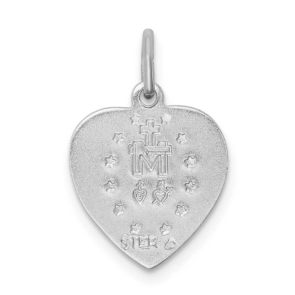 Miraculous Heart Medal Sterling Silver QC3507
