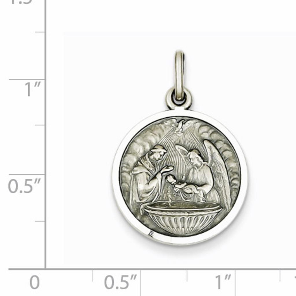 Baptism Medal Sterling Silver QC3669