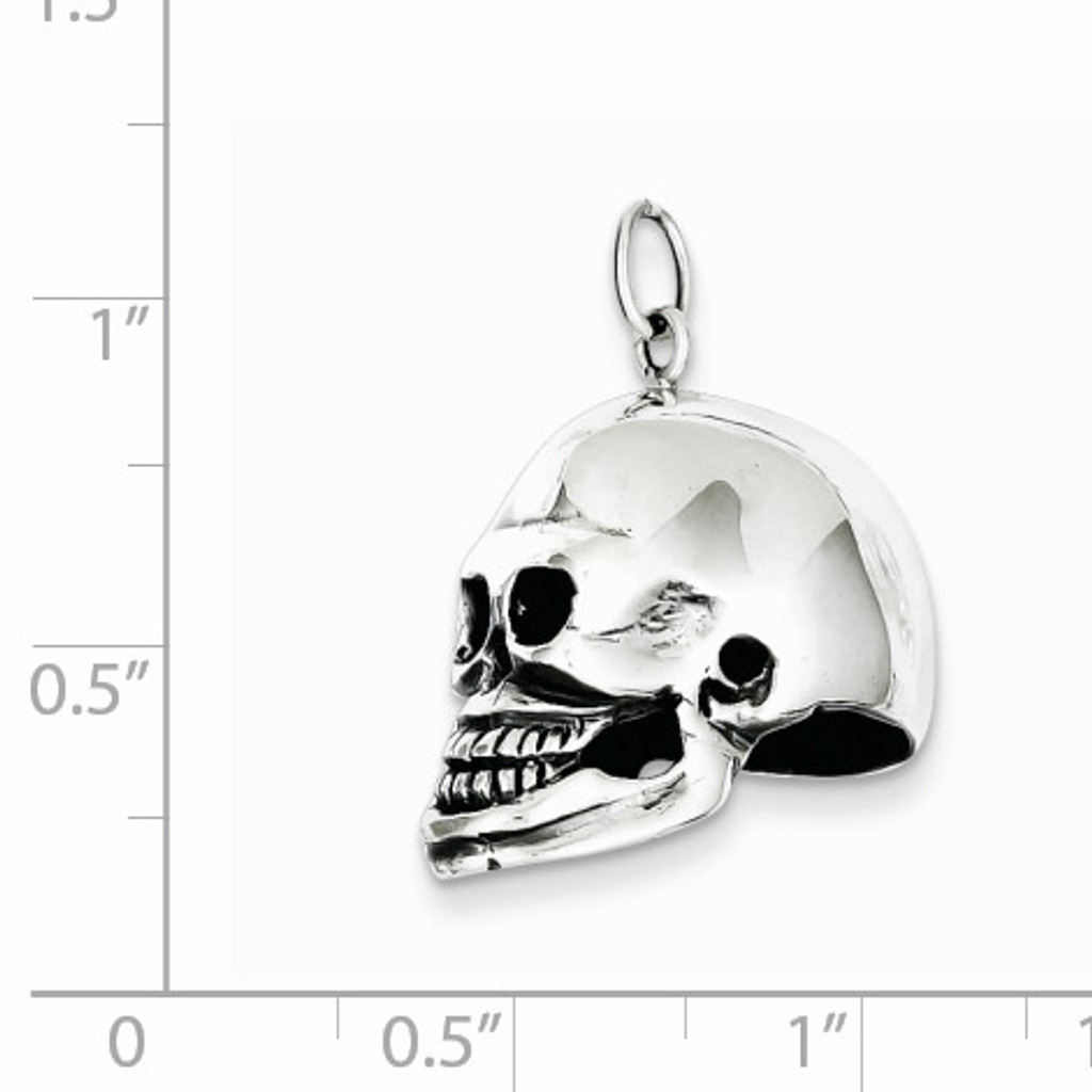 Skull Pendant Sterling Silver QC5163