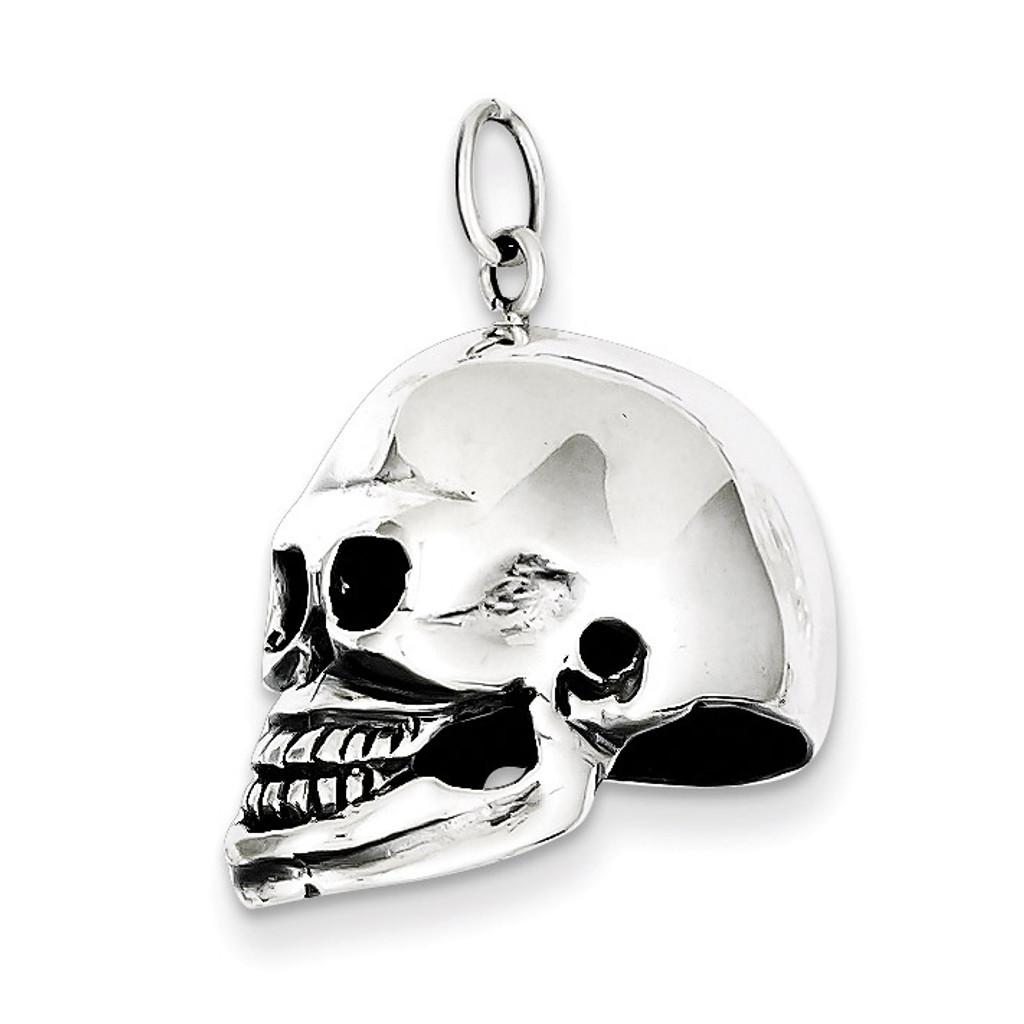 Skull Pendant Sterling Silver MPN: QC5163