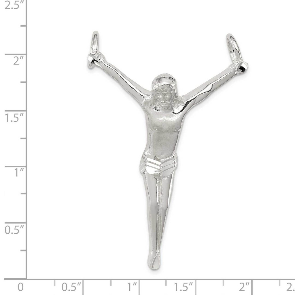 Corpus (Crucified Christ) Pendant Sterling Silver QC527