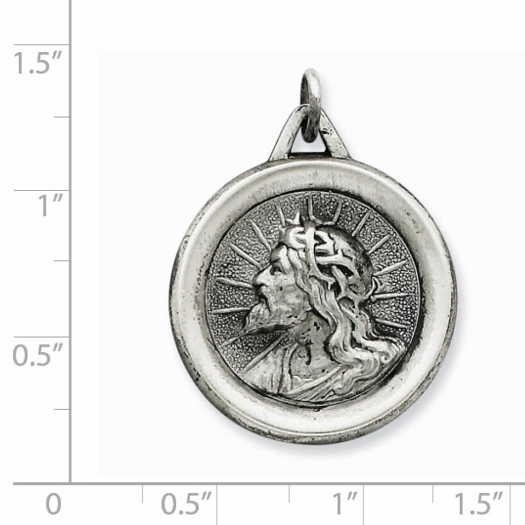 Jesus Medal Sterling Silver QC5499