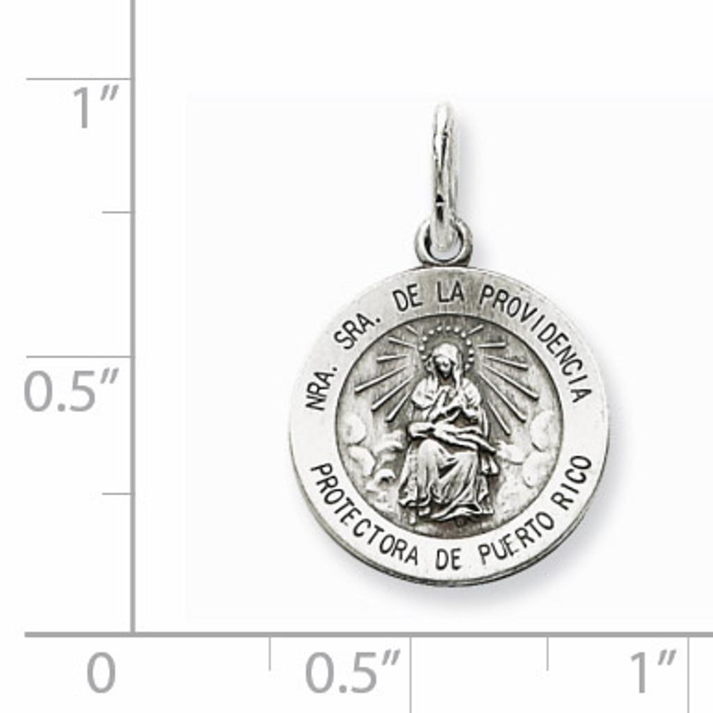 De La Providencia Medal Antiqued Sterling Silver QC5588