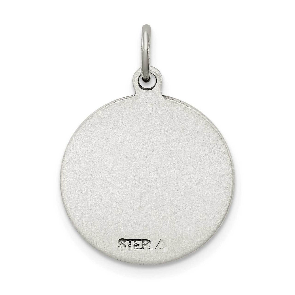 Saint Christopher Medal Antiqued Sterling Silver QC5603