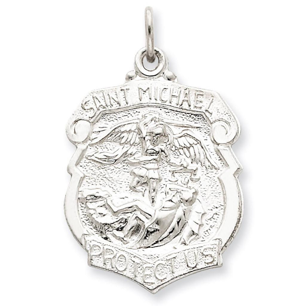 Saint Michael Badge Medal Sterling Silver MPN: QC5624