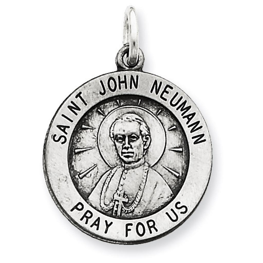 Saint John Neumann Medal Antiqued Sterling Silver MPN: QC5745