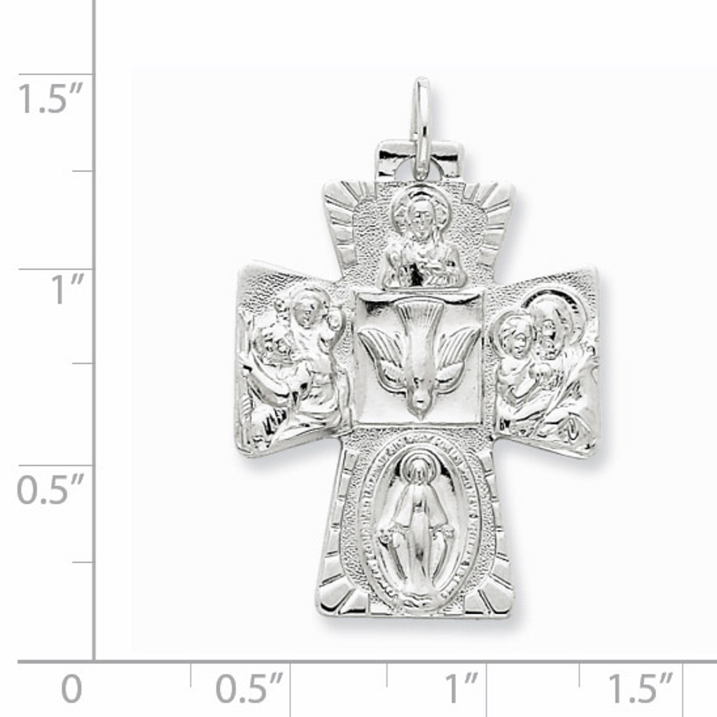 4-way Medal Sterling Silver QC5809