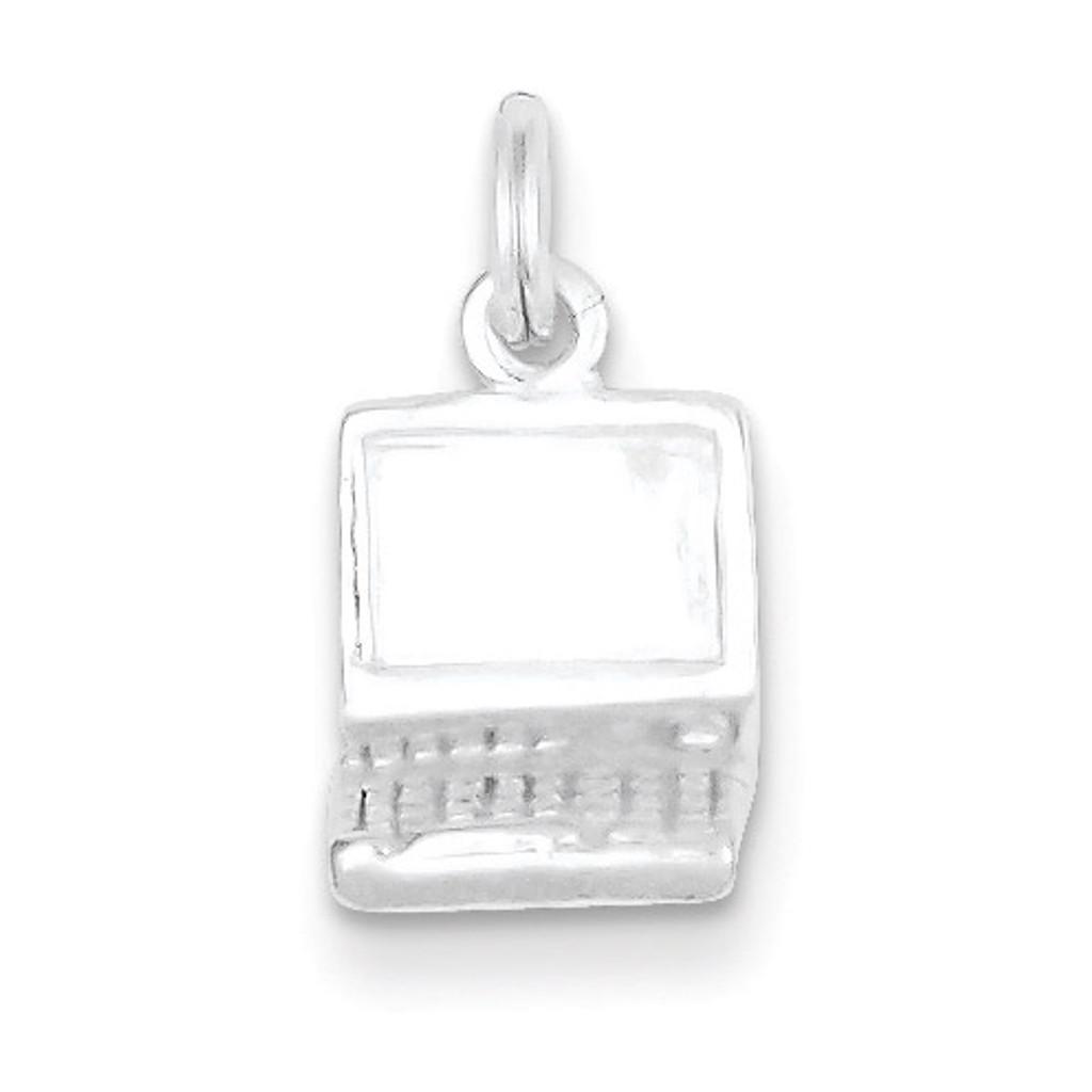 Laptop Charm Sterling Silver MPN: QC7079