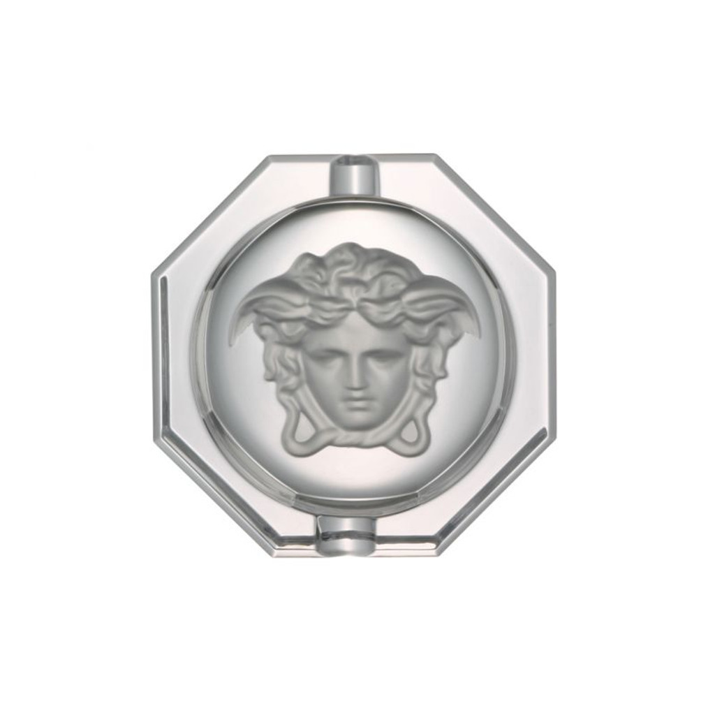 Versace Medusa Lumiere Ashtray Crystal 5 inch